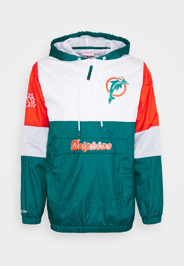 NFL MIAMI DOLPHINS MARINO SURPRISE WIN WINDBREAKER - Fanartikel - dark teal