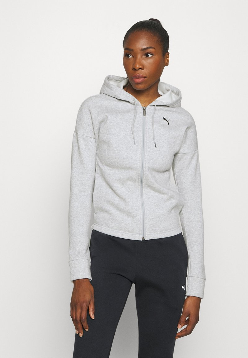 Puma - CLASSIC SUIT SET - Tracksuit - light gray heather