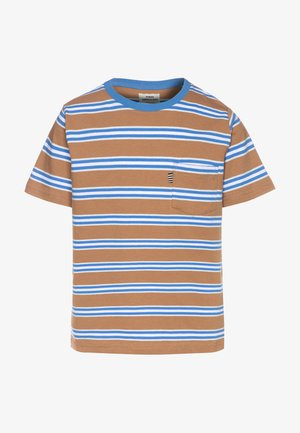 SUMMER STRIPE TROLINO - Triko s potiskem - tobacco brown
