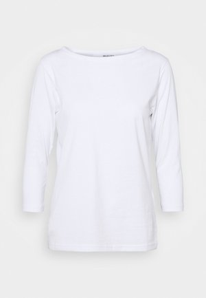 STANDARD BOAT NECK TEE - Long sleeved top - bright white