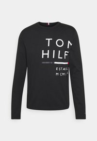 Tommy Hilfiger - WRAP AROUND GRAPHIC TEE - Pitkähihainen paita - black - 0