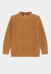 ARKET - OLIVIA FRILL JUMPER - Maglione - brown medium dusty - 0