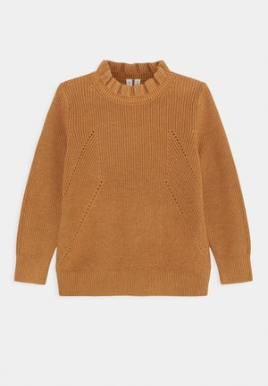 OLIVIA FRILL JUMPER - Jumper - brown medium dusty