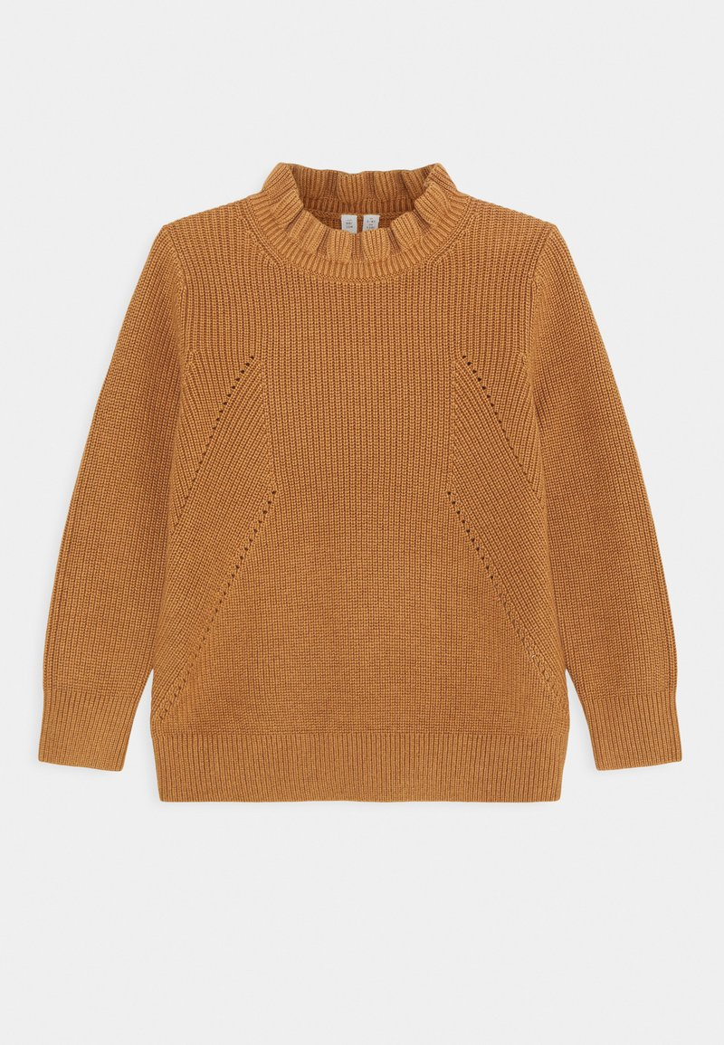 ARKET - OLIVIA FRILL JUMPER - Maglione - brown medium dusty