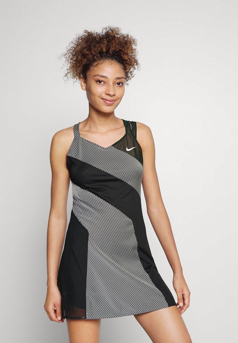 Nike Performance - DRESS - Sports dress - black/white
