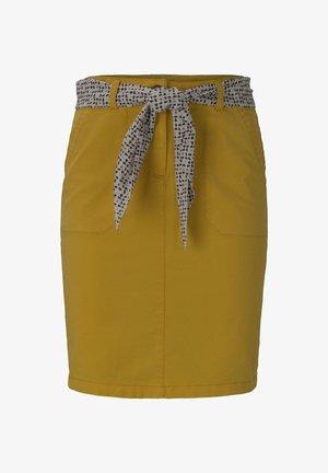 Pencil skirt - deep golden yellow