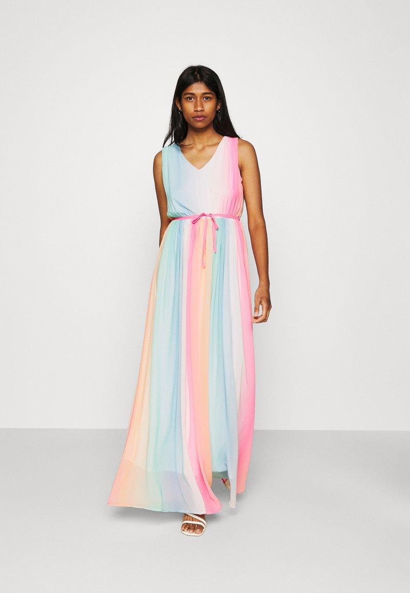 Only Onlalessia Maxi Dress Ballkleid Sachet Pink Multi Pink Zalando De