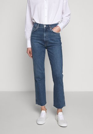 PINCH WAIST - Straight leg jeans - subdued cut off hem