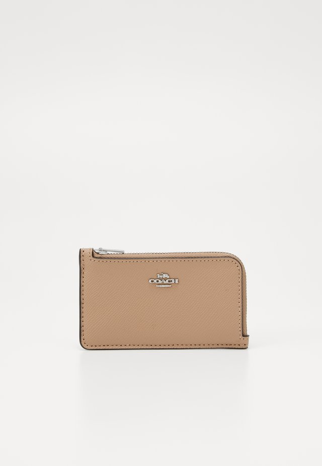 SMALL L ZIP CARD CASE - Portfel - taupe