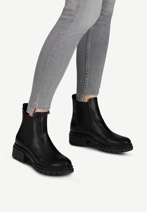 Stiefelette - black leather