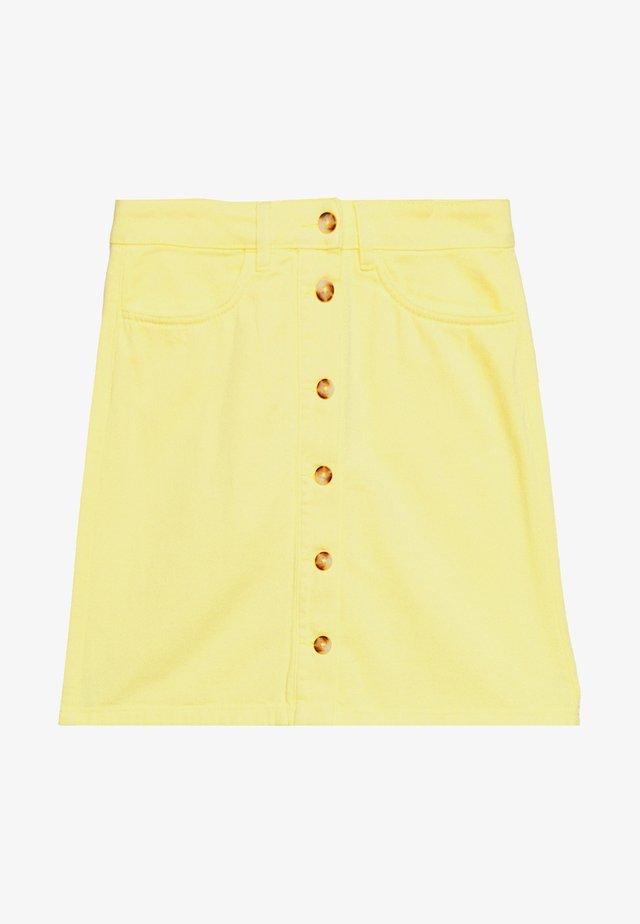 COLOURED SKIRT - Falda vaquera - daffodil yellow