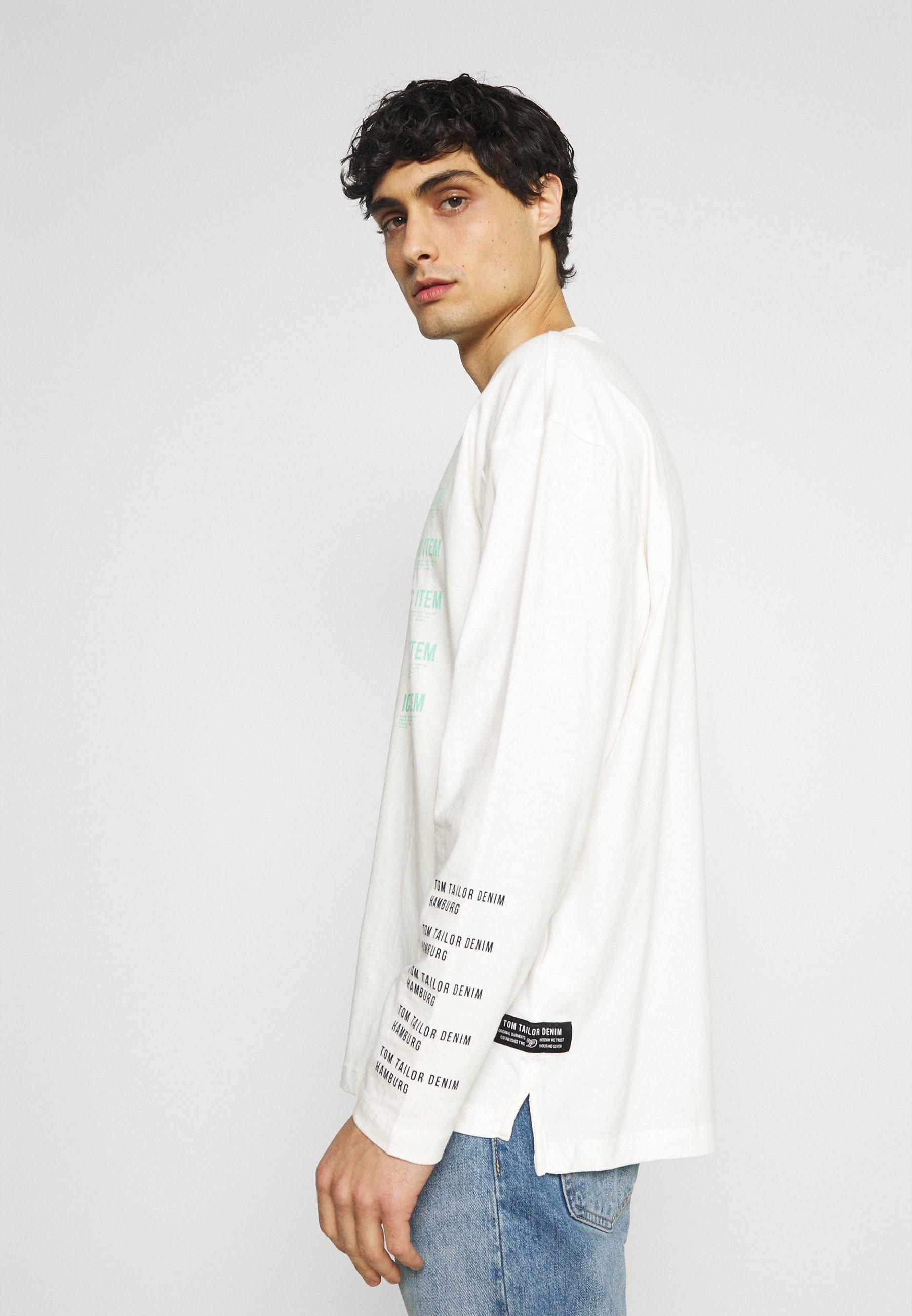 Men LONG SLEEVE WITH PRINT - Long sleeved top