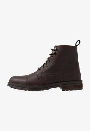 WOLF TOE CAP - Lace-up ankle boots - thunder brown
