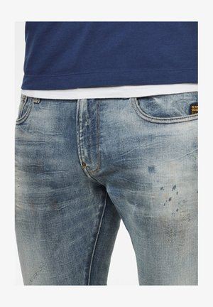 REVEND SKINNY - Jeans Skinny Fit - antic faded lapo blue destroyed
