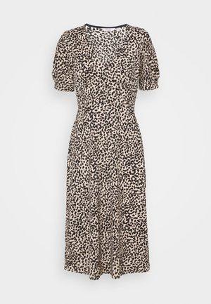 ANIMAL PRINT FOCHETTE MIDI DRESS - Day dress - tan