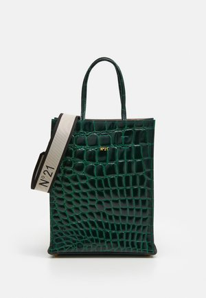 SHOPPING VERTICALE - Across body bag - green