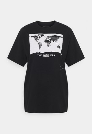 ROUND NECK SHORT SLEEVE - Print T-shirt - black