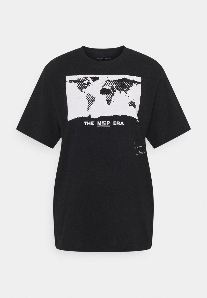 Marc O'Polo - ROUND NECK SHORT SLEEVE - Camiseta estampada - black