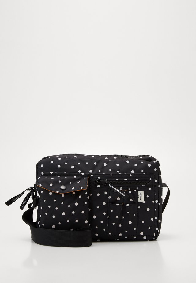 RECYCLED BEL AIR CAPPA DOT - Sac bandoulière - black/off white