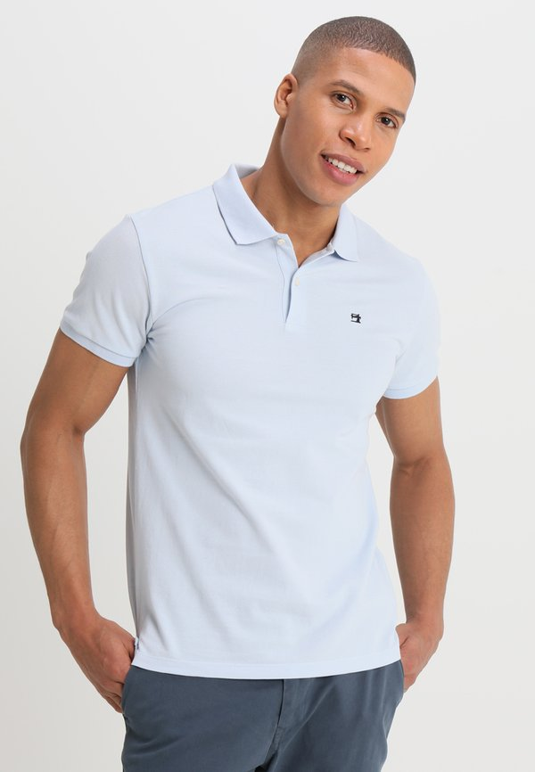 Scotch & Soda CLASSIC CLEAN - Koszulka polo - blue/niebieski Odzież Męska ECAF