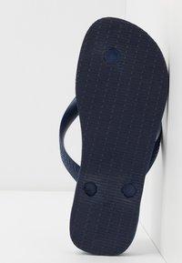 Havaianas - TOP LOGOMANIA  - Pool shoes - navy  blue  white - 4
