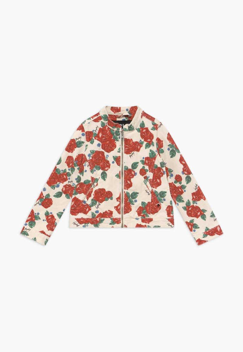 Replay - Denim jacket - white/red