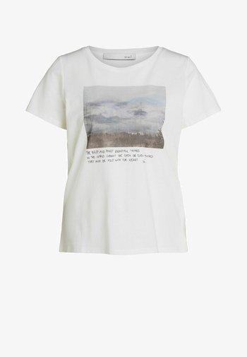 MIT FOTOMOTIV - Print T-shirt - cloud dancer