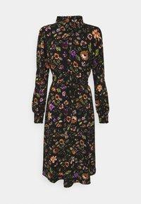 Pieces - PCFALISHI MIDI SHIRT DRESS - Skjortklänning - black - 5