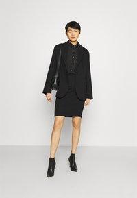 Anna Field - Semi sheer blouse - Chemisier - black - 1