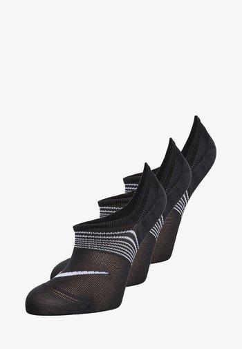 WOMENS LIGHTWEIGHT TRAIN 3 PACK - Trainer socks - black/white