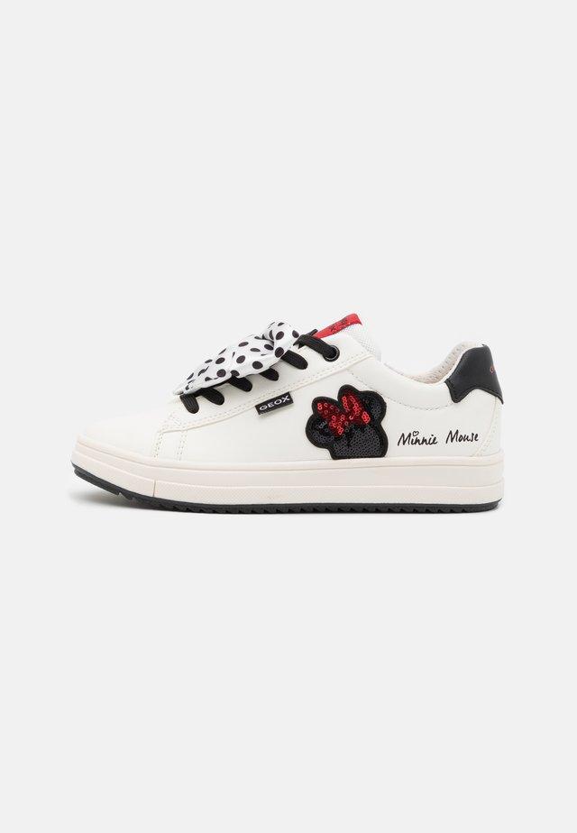 REBECCA GIRL DISNEY - Sneakers basse - off white/red