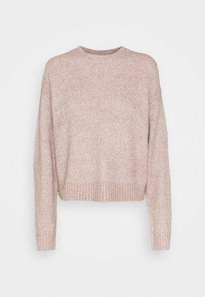 CROP JUMPER - Jersey de punto - mid pink