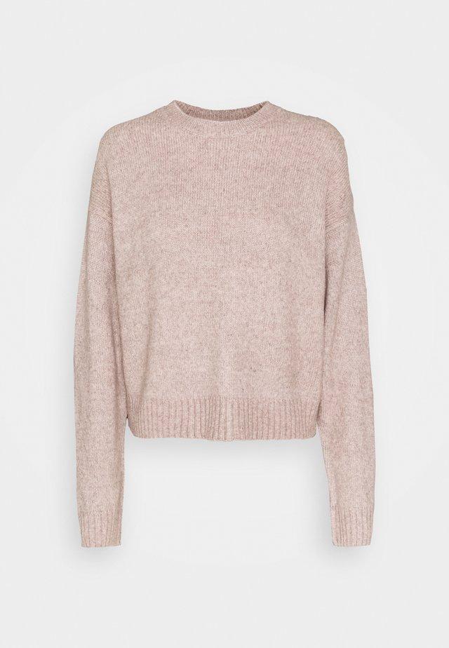 CROP JUMPER - Pullover - mid pink