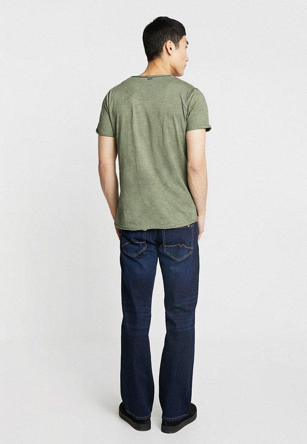 Key Largo DO NOT USE - T-shirt z nadrukiem - green/oliwkowy melanż Odzież Męska DYNM