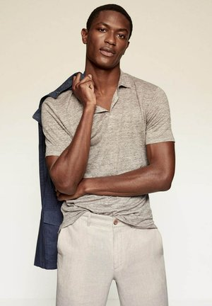 SLIM FIT  - Polo - beige