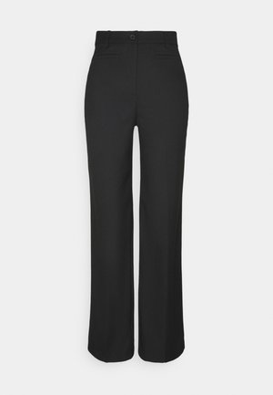 STACY TROUSERS - Bukse - black dark