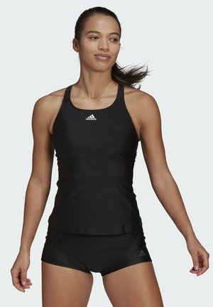 SH3.RO 3-STRIPES TANKINI TOP - Bikini top - black