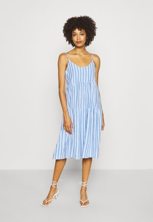 TIERED CAMI MIDI - Jersey dress - blue combo