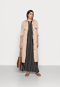 TOM TAILOR DENIM - Maxi dress - black/beige - 1