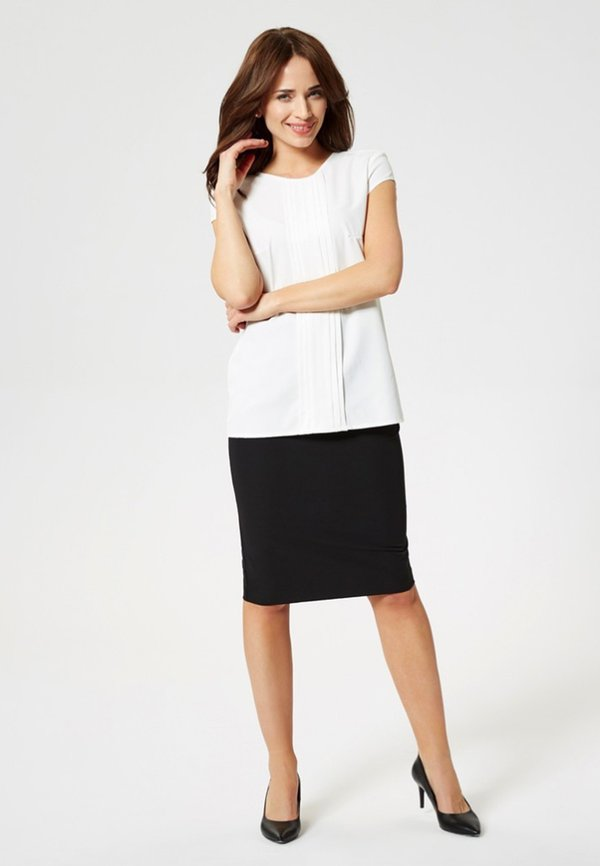 usha T-shirt z nadrukiem - white Kolor jednolity Odzież Damska FNVF PT 5