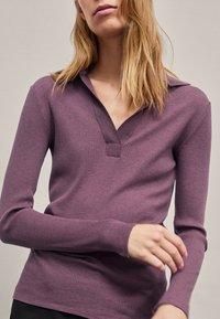 Massimo Dutti - Long sleeved top - dark purple - 0