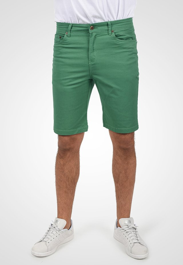 Denim shorts - bottle green