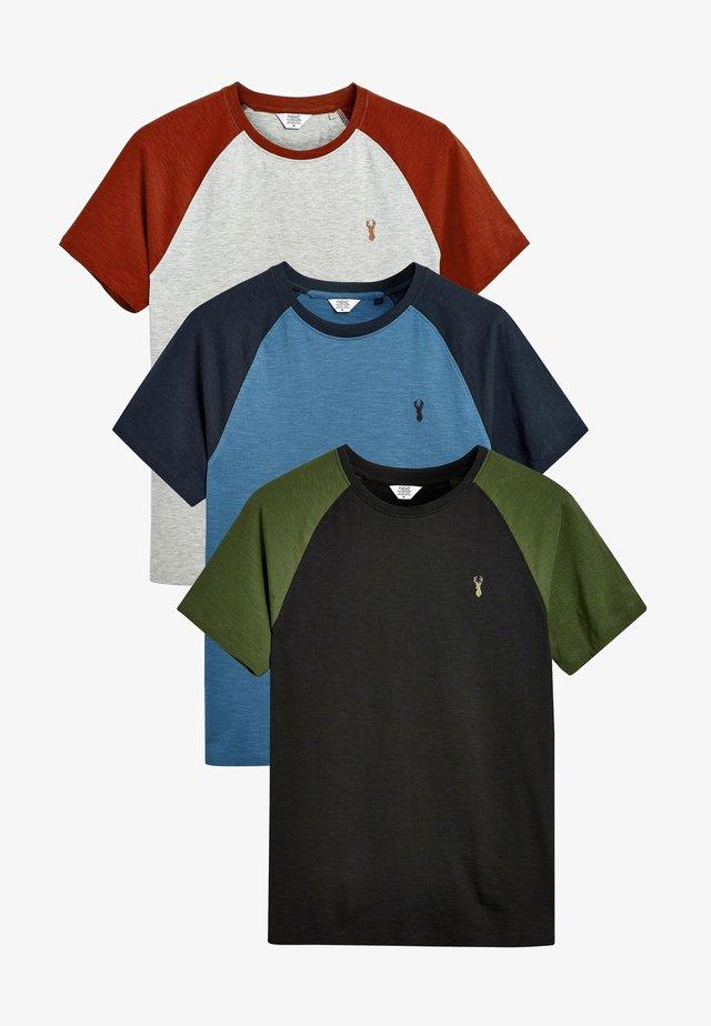THREE PACK - Triko spotiskem - multi-coloured