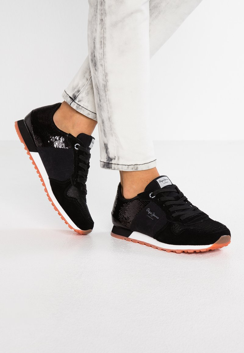 Pepe Jeans - VERONA NEW SEQUINS - Trainers - black