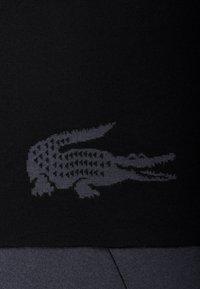 Lacoste - CROCODILE - Scarf - noir/graphite - 2