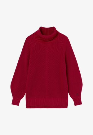 RELAXED ROLL NECK  - Jumper - virginia red