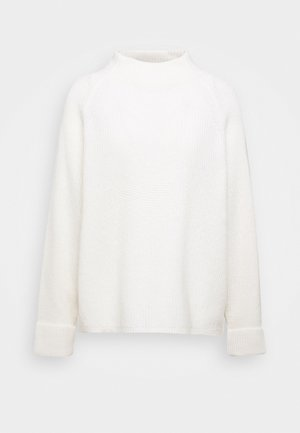 BOXY LONG SLEEVE RAGLAN CROPPED LENGTH - Jumper - winter natural white