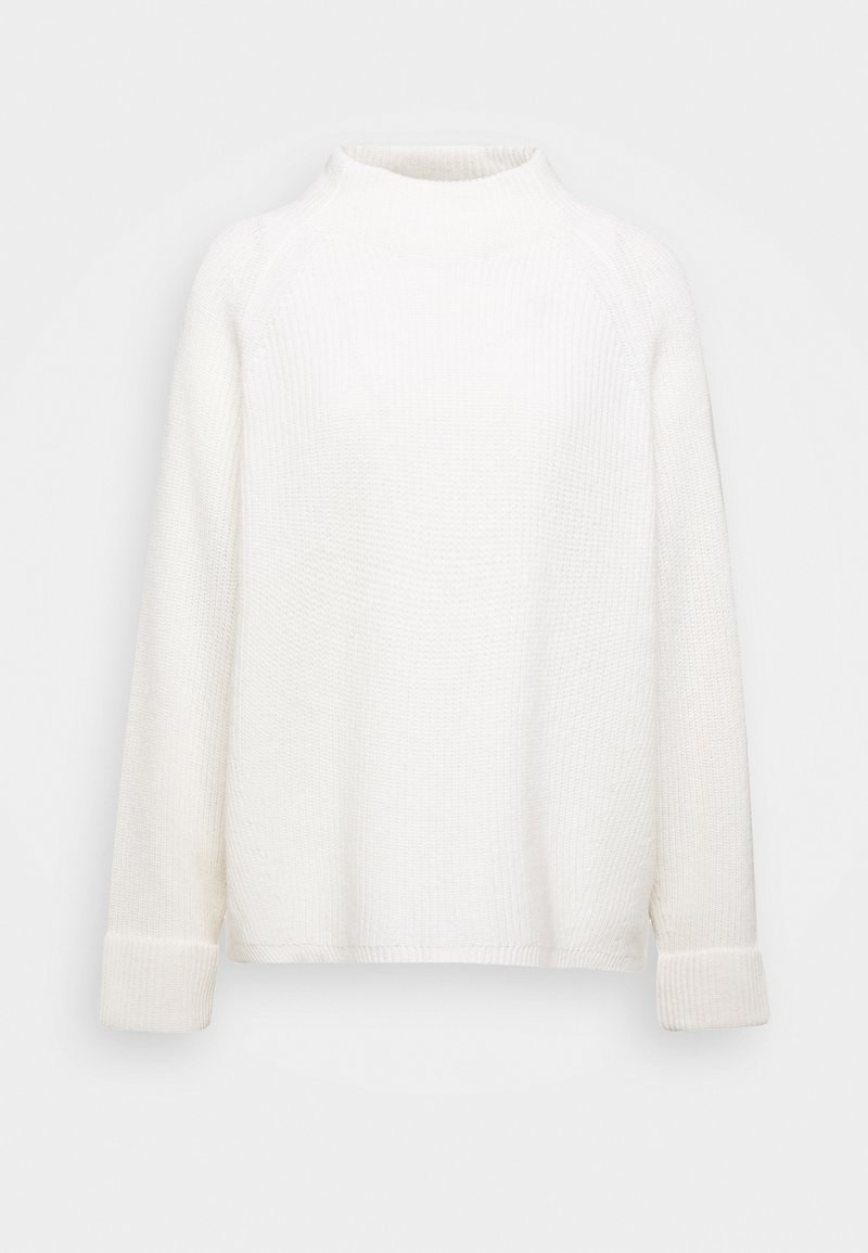 Marc O'Polo PURE - BOXY LONG SLEEVE RAGLAN CROPPED LENGTH - Pullover - winter natural white