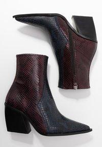 Topshop - HONOUR WESTERN - Cowboy/biker ankle boot - blue - 3