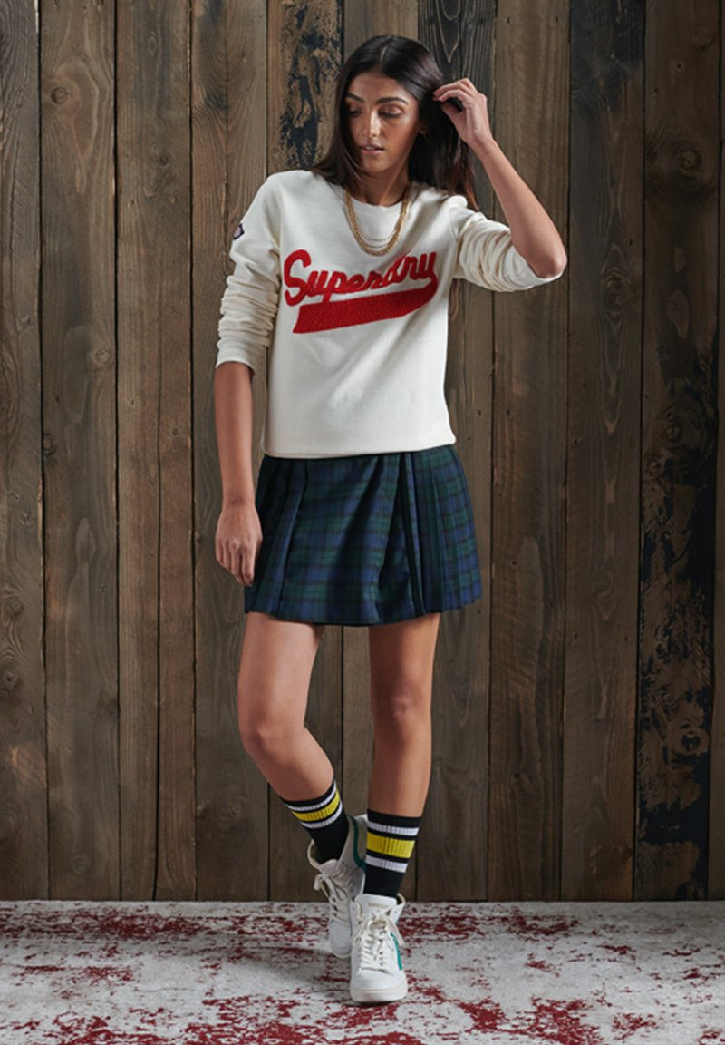 Superdry - Pleated skirt - navy check